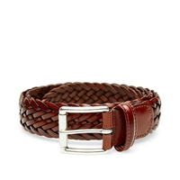 Andersons Anderson's Woven Leather Belt Brown