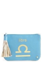 Stephanie Johnson 'Astrology' Large Flat Cosmetics Pouch Libra
