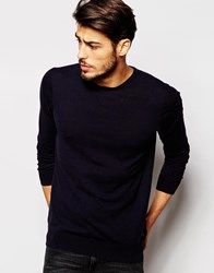 Scotch And Soda Jumper With Crew Neck Navy