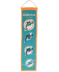 Winning Streak Miami Dolphins Heritage Banner Team Color