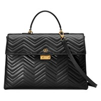 Gucci Gg Marmont Briefcase Black