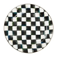 Mackenzie Childs Courtly Check Enamel Charger Plate