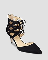 Ivanka Trump Pointed Toe Lace Up Pumps Necila High Heel Black