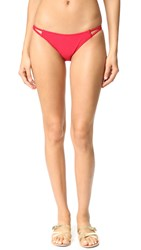 Minkpink Naive Heart Bikini Bottoms Ruby Red