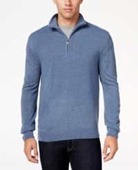 Weatherproof Vintage Men's Quarter Zip Sweater Only At Macy's Denim