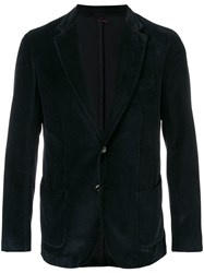 Dell'oglio Textured Blazer Jacket Blue