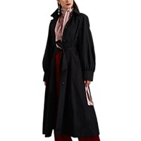 Martin Grant Puff Sleeve Trench Coat Black