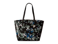 Ivanka Trump Alexey Seasonal Shopper Black Ditsy Floral Handbags Multi
