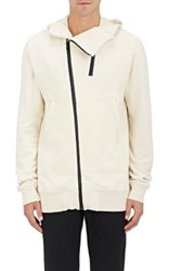 Nlst Men's French Terry Bonded Zip Hooded Sweatshirt White