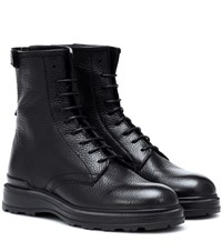 Woolrich Leather Lace Up Boots Black