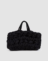 Alienina Woven Tote Bag In Black