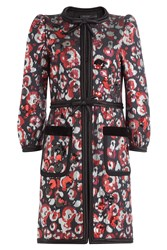 Marc Jacobs Printed Coat With Sequins Multicolor