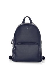 Montblanc Zippered Backpack Blue