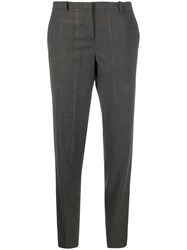 Fabiana Filippi Plaid Tailored Trousers Grey