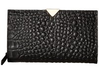 Vince Camuto Zinia Wallet Black Croco Wallet Handbags