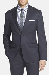 Men's Big And Tall Nordstrom Classic Fit Wool Blazer Navy