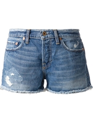 Nsf Distressed Shorts Blue