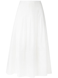 The Row Long Circle Skirt White