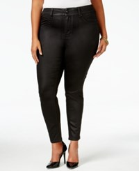 Melissa Mccarthy Seven7 Trendy Plus Size Coated Colored Wash Jeans Black
