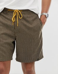 Pull And Bear Jogger Shorts In Brown Brown