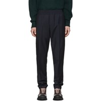 Acne Studios Navy Wool Mohair Ryder Trousers