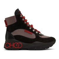 Jimmy Choo Black And Red Inca Boots