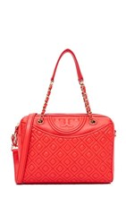 Tory Burch Fleming Duffel Bag Red Volcano