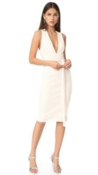 Bec And Bridge Luminous Plunge Dress Ivory