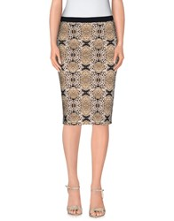 Angelo Marani Skirts Knee Length Skirts Women Sand