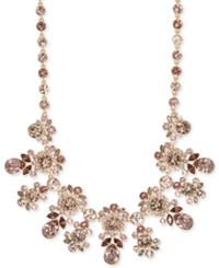 Givenchy Silver Tone Crystal Statement Necklace Rose Gold