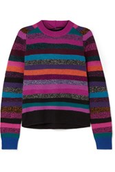 Marc Jacobs Tie Back Striped Cashmere Sweater Pink