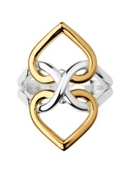 Links Of London Infinite Love Silver And Gold Vermeil Ring Silver