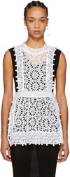 Isabel Marant White Kyler Broderie Anglaise Top
