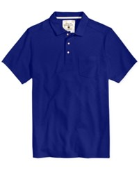 Tasso Elba Men's Upf 30 Performance Polo Only At Macy's Mountain Blue