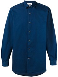 Etudes 'Ombre' Longsleeve Shirt Men Cotton 44 Blue