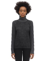 Max Mara Wool And Mohair Sweater Dark Grey