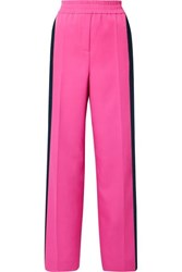 Calvin Klein 205W39nyc Striped Wool Gabardine Track Pants Bright Pink