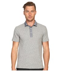 Todd Snyder Chambray Trim Polo Antique Grey Mix