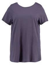 New Look Curves Print Tshirt Charcoal Grey