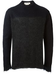 Marni Textured Bicolour Jumper Grey