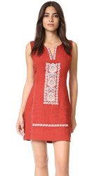 Plenty By Tracy Reese Embroidered Shift Dress Cinnamon