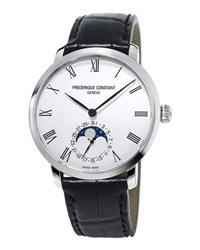 Frederique Constant 42Mm Men's Slimline Moonphase Manufacture Watch