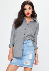 Missguided Black Plaid Shirt White