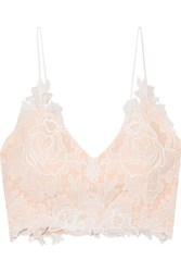Rime Arodaky Lalie Lace And Crepe Bustier Top White