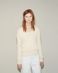 Hache V Neck Sweater Cream