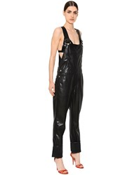 Givenchy Faux Leather Jumpsuit Overalls
