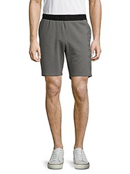 Calvin Klein Mixed Media Heathered Cotton Blend Shorts Medium Grey Heather