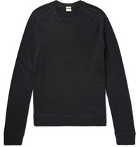 Massimo Alba Watercolour Dyed Cashmere Sweater Charcoal