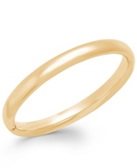 Signature Gold Polished Bangle Bracelet In 14K Gold Yellow Gold
