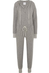 Madeleine Thompson Roxby Cashmere Jumpsuit Gray